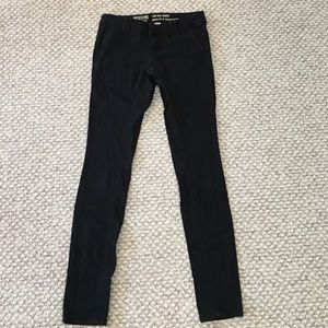 Black low rise skinny jeans pants